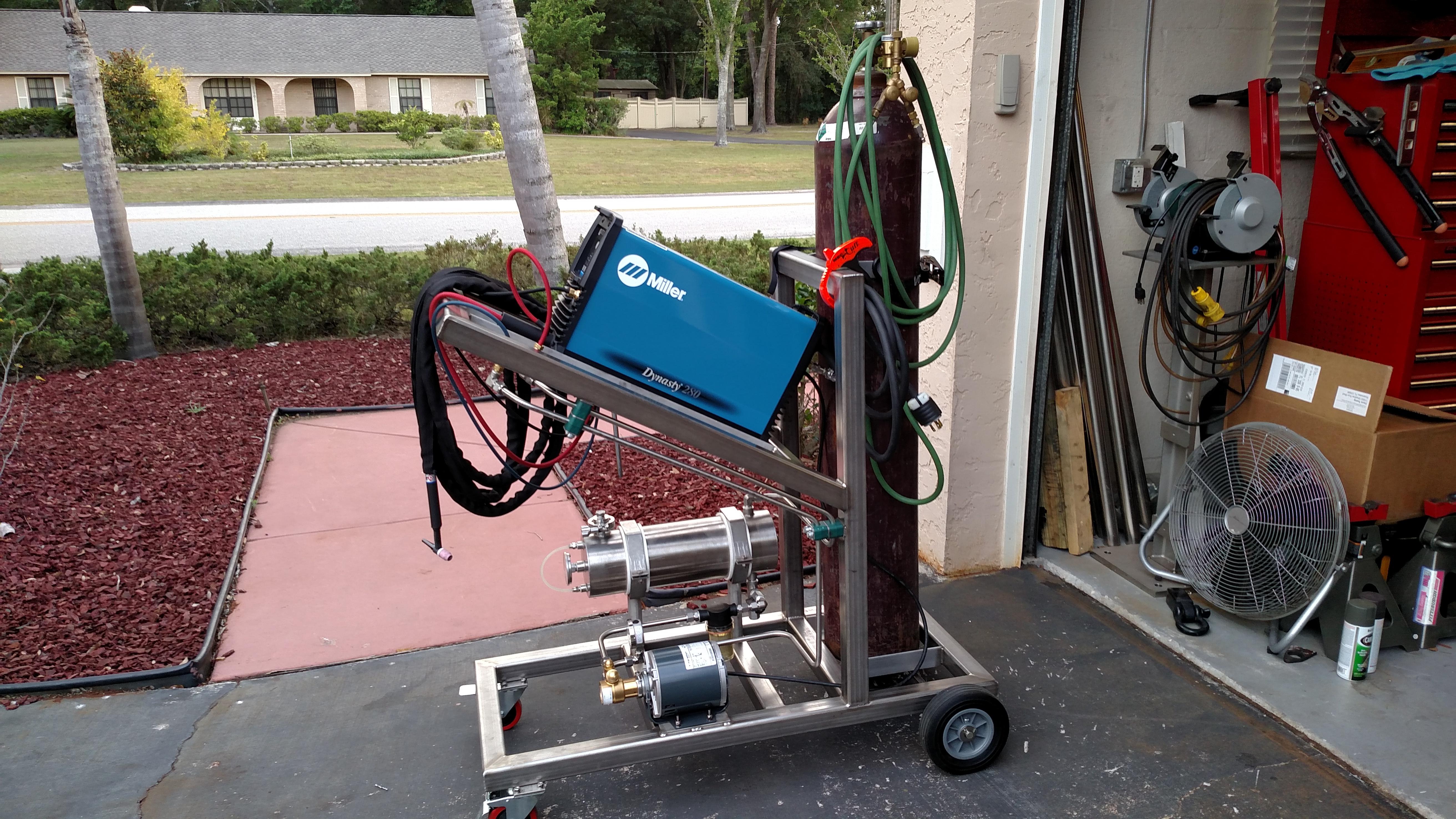 Stainless Cart For The New Welder Miller Welding